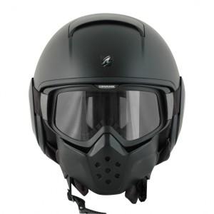 Shark-Raw-Blank-Open-Face-Crash-Helmet-Matt-Black-4
